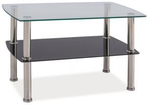 SIGNAL Irene sklenený konferenčný stolík priehľadná / chrómová