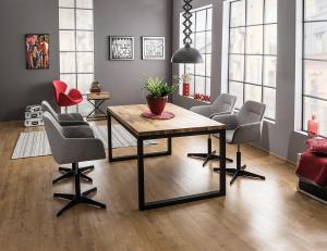 Signal Jedálenský stôl Loras II / Dubová dýha Prevedenie: Čierna - 77 x 90 x 150 cm