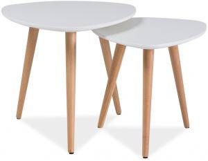 Signal Konferenčné stolíky - komplet NOLAN A biela/buk
