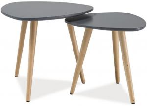 Signal Konferenčné stolíky - komplet NOLAN A šedá/buk