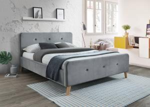 Signal Manželská posteľ MALMO Velvet Farba: Modrá