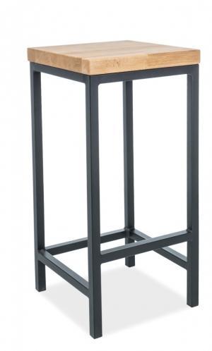 SIGNAL Metro barová stolička dub / čierna
