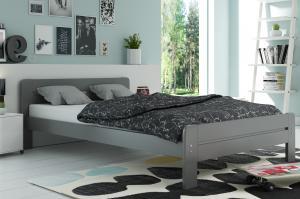 Široká posteľ DALLASO 140x200cm GRAFIT