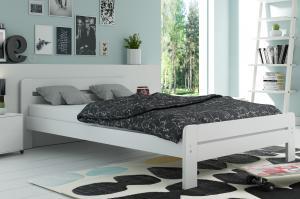 Široká posteľ DALLASO 160x200cm BIELA