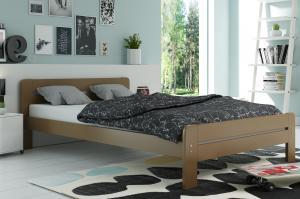 Široká posteľ DALLASO 160x200cm ČOKOLÁDA