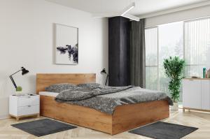 Široká posteľ (výklopná) PANAMAX 160x200cm DUB KRAFT