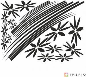 Sisi kvety - nálepky na stenu