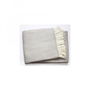 Svetlosivý pléd s podielom bavlny Euromant Zen, 140 x 180 cm