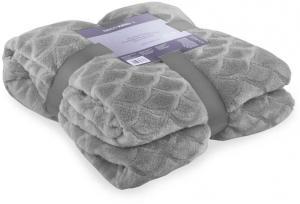 Sivá deka z mikrovlákna DecoKing Sardi, 220×240cm