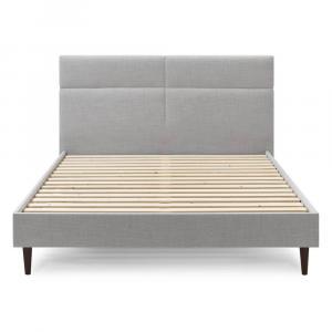Sivá dvojlôžková posteľ Bobochic Paris Elyna Dark, 160 x 200 cm