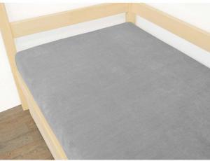 Sivá plachta z mikroplyšu, 120 x 200 cm