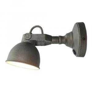 Sivé nástenné svietidlo LABEL51 Bow M