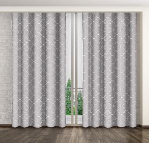 Sivé závesy do obývačky