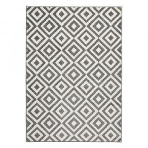 Sivo-biely koberec Think Rugs Matri×, 120×170cm