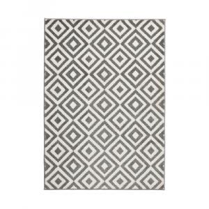 Sivo-biely koberec Think Rugs Matrix Grey White, 160×220cm