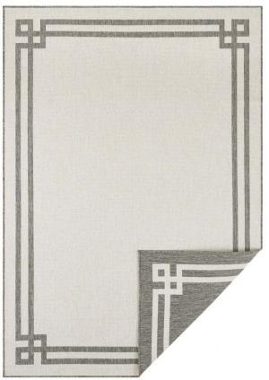 Sivo-krémový vonkajší koberec Bougari Manito, 80 x 150 cm