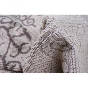 Sivobéžový bavlnený koberec Vitaus Orkide, 80×150cm
