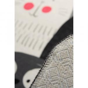 Sivý detský protišmykový koberec Chilam Cats, 140 x 190 cm