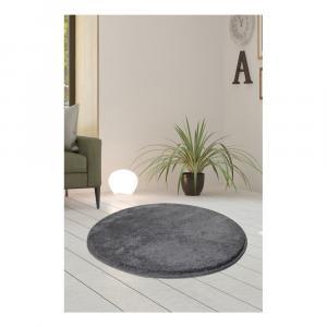 Sivý koberec Milano, ⌀ 90 cm