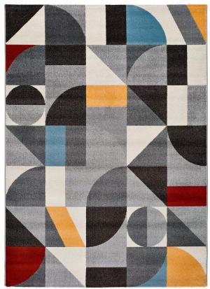 Sivý koberec Universal Delta Multi, 57 x 110 cm