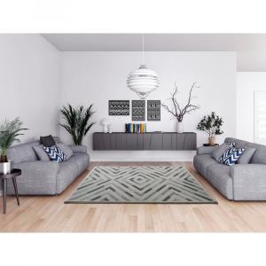 Sivý koberec Universal Dream Geo, 60 x 120 cm