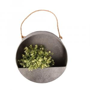 Sivý nástenný kvetináč Esschert Design, ø 30 cm