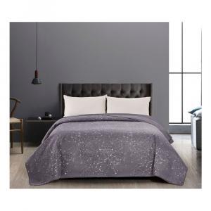 Sivý obojstranný pléd z mikrovlákna DecoKing Cilantro, 220 x 240 cm