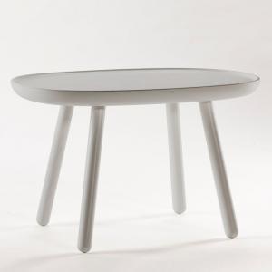 Sivý odkladací stolík z masívu EMKO Naïve, 61 x 41 cm
