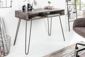 Sivý písací stôl Scorpion 100cm »