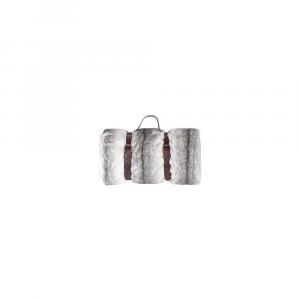 Sivý pléd s koženým popruhom Tiseco Home Studio Wolf, 130 x 180 cm