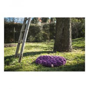 Sivý sedací vankúšik s masážnymi loptičkami Linda Vrňáková Bloom, Ø 65 cm