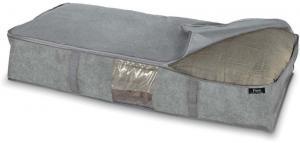 Sivý úložný box pod postel Domopak Stone, 95 x 45 cm