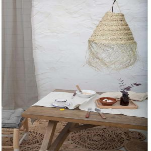 Sivý záves Linen Couture Cuture Cortina Hogar Grey Lines