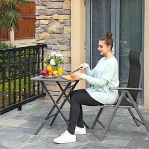Skládací balkonový stolek 62x62 cm šedý