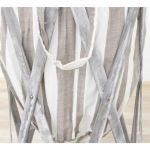 Skládací kôš na prádlo, sivo / biela, DZIMBO 5