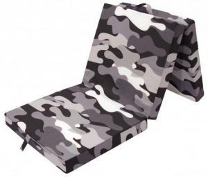 Skladací matrac Samba, čierno-šedý vzor