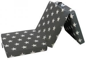 Skladací matrac Samba, sivý so vzorom hviezd