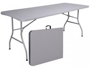 Skládací zahradní stůl šedý