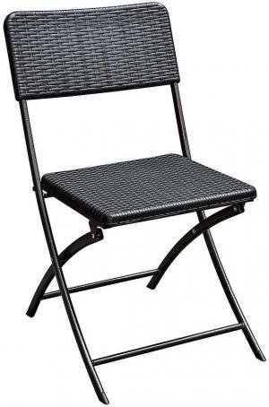 Skladacia stolička čierna