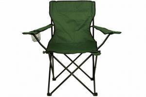 Skladacia stolička s držiakom - zelená