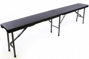 Skladacia záhradná lavica BLACK v ratanovom designe