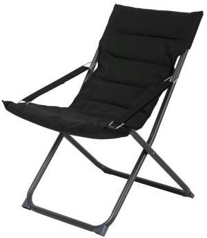 Skladacia záhradná stolička Bibione, čierna