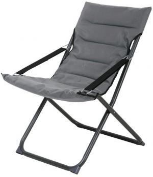 Skladacia záhradná stolička Bibione, šedá