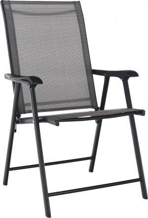 Skladacia zahradná stolička, sivá, Adola