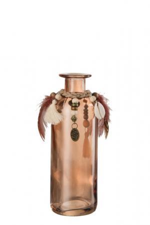 Sklenená váza BOHO - Ø 6*16cm