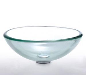 Sklenené umývadlo 71015, číré, kruh 420mm