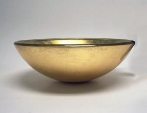 Sklenené umývadlo 91006, zlaté, kruh 420mm