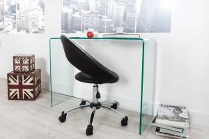 Sklenený kancelársky stôl Phantom