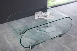 Sklenený konferenčný stolík Phantom 90 cm