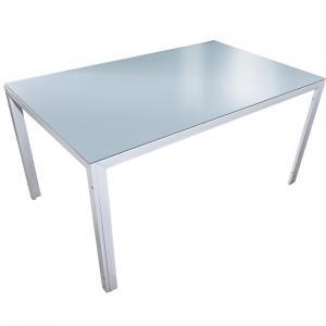 Sklenený stôl Bergen 73x90x150cm farba morská
